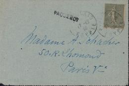 Poste Maritime Cap Arcona Bateau Allemand Récupéré Après Guerre 14 YT 130 CAD Port Saïd Egypte 17 12 19 Cachet Paquebot - Marcophilie (Lettres)