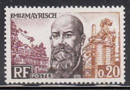 France 1963 MNH Sc 1062 20c Emile Mayrisch - France