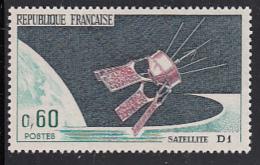 France 1966 MNH Sc 1148 60c Satellite D1 - France