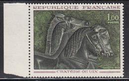 France 1966 MNH Sc 1149 1fr Horses From Bronze Vessel Of Vix Marging Copy - France
