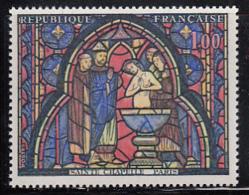 France 1966 MNH Sc 1151 1fr The Baptism Of Judas Window Margin Copy - France