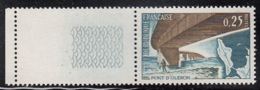 France 1966 MNH Sc 1162 25c Oleron Bridge Selvedge Copy - France