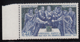 France 1967 MNH Sc 1200 40c Election Of Hugh Capet As King Margin Copy - France