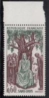France 1967 MNH Sc 1201 40c King Louis IX Margin Copy - France