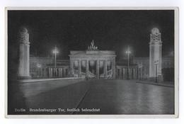 Berlin Brandenburger Tor Festlich Beleuchtet Verlag E. Munier Berlin-Heiligensee - Brandenburger Door