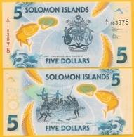 Solomon Islands 5 Dollars P-new 2019 UNC Polymer Banknote - Solomon Islands