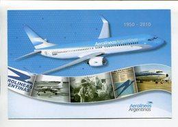 ARGENTINA - AEROLÍNEAS ARGENTINAS, AVION AIRPLANE AERONEF. ENTERO ENTIER CIRCULE 2010 FDC - LILHU - Aerei