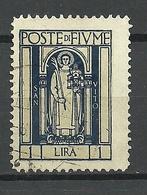 FIUME 1923 Michel 162 O - 8. Besetzung 1. WK