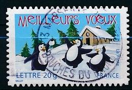 France - Meilleurs Voeux YT A 70 (3856) Obl. Cachet Rond - Adhésifs (autocollants)