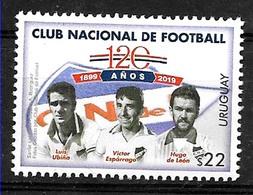 URUGUAY 2019 SPORTS,FOOTBALL SOCCER NATIONAL FOOTBALL CLUB PLAYERS NEUFS,MINT MNH,POSTFRICHH - Soccer