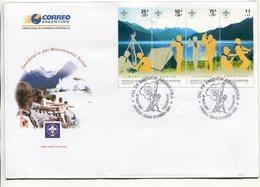 ARGENTINA - CENTENARIO DEL MOVIMIENTO SCOUT. AÑO 2007, SOBRE PRIMER DIA, ENVELOPE FDC - LILHU - Movimiento Scout