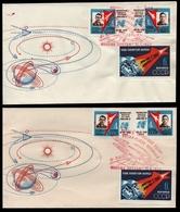 Russia / Sowjetunion 1962 - Mi-Nr. 2634-2636 A & B - 2 FDC - Raumfahrt / Space - Briefe U. Dokumente