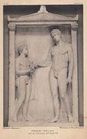 Greek Young Athlete Grave Relief Sculpture British Museum Old Postcard - Sculptures