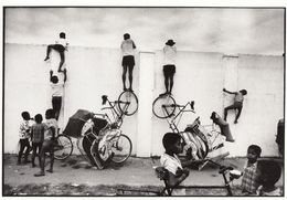 Michelangelo Durazzo Football Fans Bicycle Ladder Photo Postcard - Fotografie