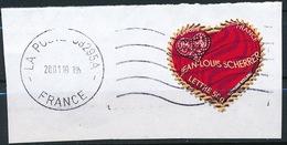 France - St-Valentin 2006 Jean-Louis Scherrer YT A73 (3864) Obl Ondulations Et Dateur Sur Fragment - France
