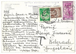 Yugoslavia 1952 Postcard Sent From Italy 1d+2d Postage Due Applied On Arrival - Storia Postale