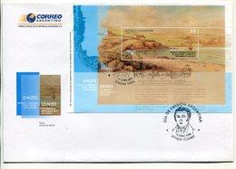 ARGENTINA - CREACION COMANDANCIA POLITICA Y MILITAR DE LAS ISLAS MALVINAS AÑO 2009 SOBRE PRIMER DIA ENVELOPE FDC - LILHU - Islas Malvinas