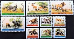 # Tanzania 1980**Sc.O27-036 Official , Animals , MNH [20;58] - Sellos