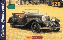 CARTE-MAGNETIQUE-AUSTRALIE-20$-1993-AUTOMOBILE BENTLEY 1935-TBE- - Voitures