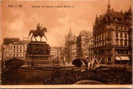 Germany Koeln Heumarkt und Denkmal Friedrich Wilhelm III