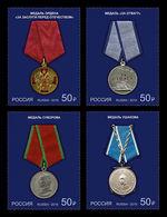 Russia 2019 Mih. 2685/88 State Awards. Medals MNH ** - 1992-.... Federazione