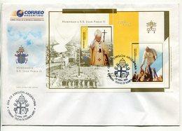 ARGENTINA - HOMENAJE A S.S. JUAN PABLO II, PAPA PAPE POPE. AÑO 2005 SOBRE PRIMER DIA ENVELOPE FDC - LILHU - Popes