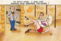 Vicar & Lady Making Love In Bellringing Bellringer Room Comic Humour Postcard - Humour