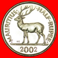 + STAG (1987-2016): MAURITIUS ★ 1/2 RUPEE 2002 MINT LUSTER! LOW START ★ NO RESERVE! - Mauritius