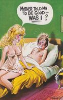 Was I Good In Bed How Mother Taught Lady Sexy Comic Humour Postcard - Humour