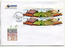 ARGENTINA - RECURSOS NATURALES, EL SUELO, EROSION HIDRICA EOLICA. AÑO 2009 SOBRE PRIMER DIA ENVELOPE FDC - LILHU - Geología