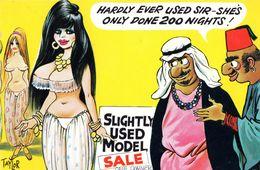 Arabian Nights Turkish Men 1970s Comic Humour Postcard - Humour