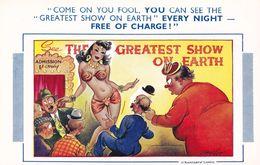 Bamforth Arabian Striptease Circus Sexy Vintage Comic Postcard - Humour