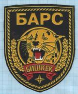 KYRGYZSTAN / Patch Abzeichen Parche Ecusson / Internal Troops Special Forces. Police Leopard. SWAT. - Blazoenen (textiel)