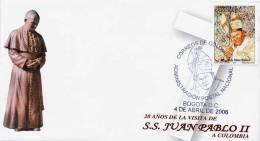 Lote 2420F, Colombia, 2006, SPD-FDC, Juan Pablo II, Pope John Paul II - Colombia