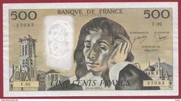 "500 Francs ""Pascal"" Du 05/10/1978.J----VF/SUP---ALPH F.96 - 1962-1997 ''Francs''"