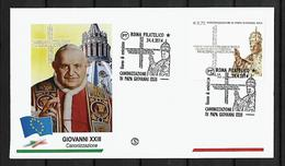 2010 Joint/Congiunta Italy And Vatican, FDC ITALY WITH 1 STAMP: Canonization Pope John XXIII - Emissioni Congiunte