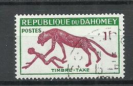 Dahomey 1963 Michel 32 Timbre Taxe Portomarke Postage Due Panther Und Mensch O - Raubkatzen