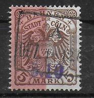 Deutsches Reich Stadt Cöln Strassenbahn Railroad Tramways Stamp 1906 5 Mark - Privé