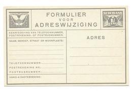 Nederland Verhuiskaart Postcard - Postal Stationery
