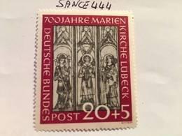 Germany Marien Church Lubeck 20+5p Mnh 1951 - [7] Federal Republic