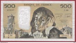 """500 Francs """"Pascal"""" Du 05/10/1978.A ----XF/SUP+--ALPH.C.88 - 1962-1997 ''Francs''"""