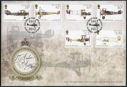 2012 Isle Of Man, F.D.C. / I.O.M. First Day Cover. Royal Flying Corps / Aircraft Aviation - Isle Of Man