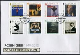2013 Isle Of Man, F.D.C. / I.O.M. First Day Cover. Robin Gibb / Bee Gees, Pop Music - Isle Of Man