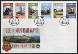 2013 Isle Of Man, F.D.C. / I.O.M. First Day Cover. Railway Trains - Isle Of Man