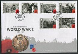 2014 Isle Of Man, F.D.C. / I.O.M. First Day Cover. World War 1 Centenary, British Legion - Isle Of Man