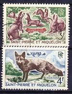 SAINT PIERRE ET MIQUELON 1964 YT N° 372 Et 373 Obl. - St.Pierre Et Miquelon