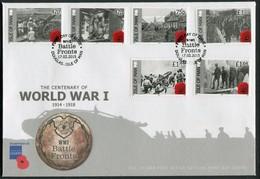 2015 Isle Of Man, F.D.C. / I.O.M. First Day Cover. World War 1, British Legion - Isle Of Man