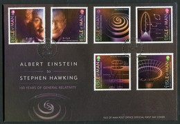 2016 Isle Of Man, F.D.C. / I.O.M. First Day Cover. Albert Einstein To Stephen Hawking - Isle Of Man