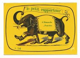 CPSM Télévision TF1 Emission De Jacques Martin Le Petit Rapporteur A Dimanche. Elephant Bottes..yvon Non Voyagée - Unterhaltung
