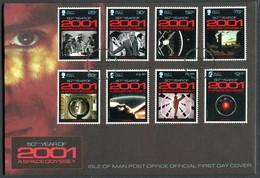 2018 Isle Of Man, F.D.C. / I.O.M. First Day Cover. 2001 Space Odyssey, Stanley Kubrick Film - Isle Of Man